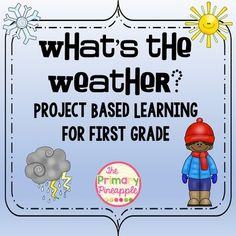Do you use project based learning in your classroom?  This project is the perfect way for primary classrooms to explore weather through project based learning.  Your students will research the weather forecast, write a script, and record their own forecast to share with the class!