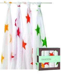 Aden & Anais 100% muslin swaddles super star www.emmaswereld.nl