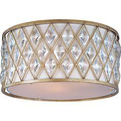 Maxim Lighting Diamond 3-Light Golden Silver Flush Mount-21452OFGS - The Home Depot