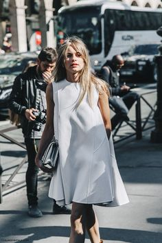 Simple, White Shift dress.