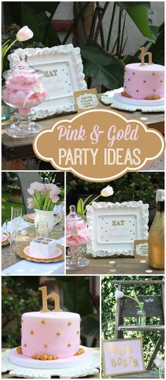Loving this pink and gold bubbly brunch! See more party ideas at CatchMyParty.com!