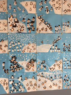 penguins and snowmen! Winter Art Projects, Winter Project, Winter Kids, Winter Holidays, Winter Activities, Art Activities, Christmas Art, Winter Christmas, Arte Elemental