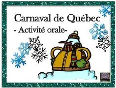 FRENCH - Supplement your cultural studies of the Quebec Winter Carnival in Canada with these task cards. Included are 32 task cards with an additional 4 blank task card templates so that you can create some questions of your own if you wish. French Teaching Resources, Teaching French, Teacher Resources, Teaching Ideas, Classroom Activities, Fun Activities, Theme Carnaval, Quebec Winter Carnival, Canadian Culture