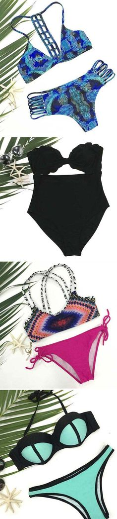 A big world is waiting for you.Indulge in the cool vibe deeply with the stylish bikini. Hit more heated loves at Cupshe.com !