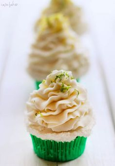 Margarita Cupcakes --- using box mix <3