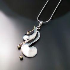 Modern Two Tone Pendant from Zoran Designs Jewelry