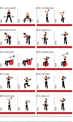 Barbell Circuit for exercising at home - strength training: Barbell Circuit for. fitnessstudio Barbell Circuit for exercising at home - strength training: Barbell Circuit for. Fitness Workouts, Circuit Fitness, Weight Training Workouts, At Home Workouts, Training Exercises, Body Workouts, Body Pump Workout, Bar Bell Workout, Workout Routines