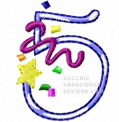 Free Embroidery Design: Number 5 - I Sew Free