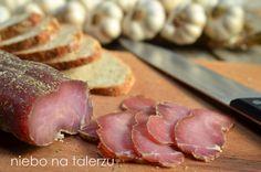 niebo na talerzu: Domowy schab bez pieczenia. Schab suszony. Schab według Czesława z Wilna http://niebonatalerzu.blogspot.com/2014/12/domowy-schab-bez-pieczenia-schab.html#comment-form