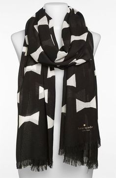kate spade new york 'bow tie - large' scarf available at Nordstrom