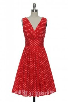 A Penny for Your Dots Dress in Red http://www.laceaffair.com/a-penny-for-your-dots-dress-in-red/#