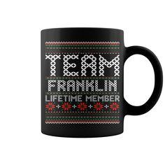 Team Franklin Lifetime Member Ugly Christmas mug