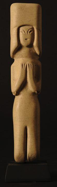 Ancestral Figure - Valdivia Culture - Ecuador 3500 - 2000 BC Limestone - William Siegal Gallery