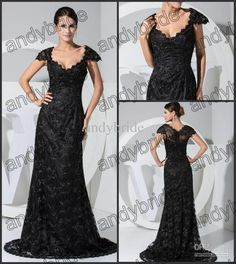 Off The Shoulder Elegant Black Lace Evening Prom Dresses Gowns Chapel Train Evening Dress 2013 Hot, Free shipping, $110.88-125.63/Piece | DHgate