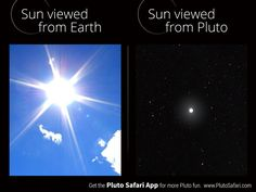 How bright is the Sun from Pluto? Sun View, Dwarf Planet, The Final Frontier, Solar System, Safari, Planets, Weather, Earth, Bright