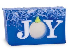 Joy... To the World Soap featuring a fragrant burst of Cedarwood, fir balsam, juniper and lavender topped with orange, pine and eucalyptus.. this soap is sure to bring you joy. $9.00 a slice :)
