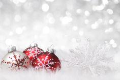 Christmas Background with Snowflake and Christmas Balls