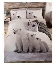 Polar Bear Family Single Duvet Cover Bedding Set