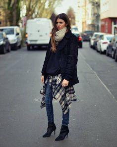 Swakara Black Faux Fur Coat