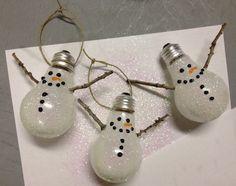 Snowman Christmas tree ornaments