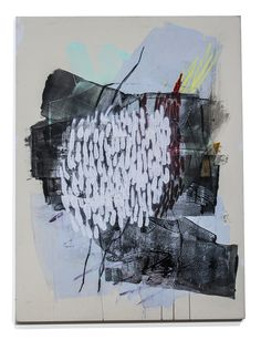 """Heather Day - BACKTRACKING #1, 48"""" × 36"""", acrylic soft-pastel charcoal on stretched canvas"""