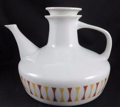 Paul McCobb Contempri Spindle Tea Pot w Lid Jackson Internationale Atomic MCM #MidCenturyModernMCMAtomic #PaulMcCobbforJacksonInternationale