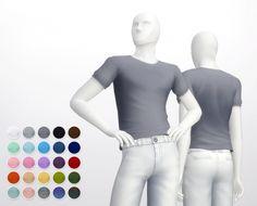 Shorter t-shirt 25 colors at Rusty Nail • Sims 4 Updates