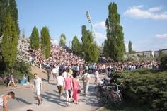 Mauerpark, located at the border of fancy Prenzlauer Berg, has become a very popular hang out over the last years. This former part of the Berlin Wall and its Death Strip is now home to a weekly fleamarket on Sundays, a sportpark and the Max Smelling Halle stadium. During a sunny weekend it turns into an urban oasis and gets crowded with tourists, picknicking locals and people playing music, boules or basketball. also check out the famous Bearpit Karaoke (on Sunday afternoons.