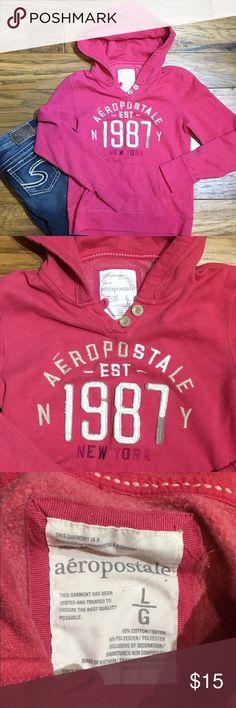Aeropostale Hoodie Pink distressed full zip hoodie. Aeropostale Tops Sweatshirts & Hoodies