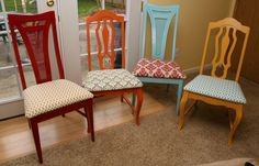 Colored Painted Wood Chairs | The Best Wood Furniture, wood chair, wood chair diy, wood chair design, wood chairs, wood chairs diy, wooden chair, wooden chairs, wooden chair diy, wooden chair ideas, wooden chairs diy
