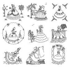 Crinoline Ladies by Bella - Tracing Booklet
