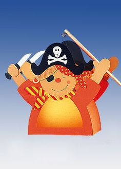 Laternen basteln: Pirat