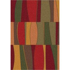 Sinclair Tapestry Red Rectangular: 5 Ft. 4 In. x 7 Ft. 8 In. Rug