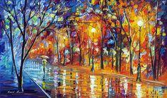 MISTY NIGHT - PALETTE KNIFE Oil Painting On Canvas By Leonid Afremov https://afremov.com/MISTY-NIGHT-PALETTE-KNIFE-Oil-Painting-On-Canvas-By-Leonid-Afremov-Size-24x40.html