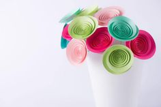 Hand-made paper flowers  bouquet Spring wind