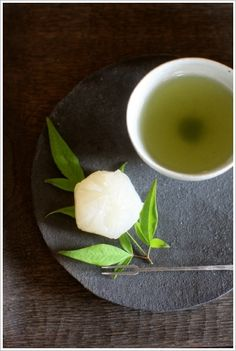 Wagashi (Japanese sweets) and green tea
