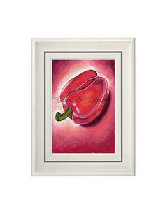 Red Pepper Art Print Red Hot Pepper Pastel by BlackEnBlanche