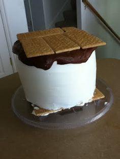 A S'more Cake:)  Cute!