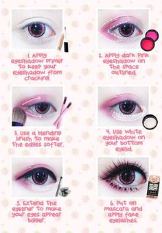Best Korean Makeup Tutorials - Beuberry Teddy Bear Pink Circle Lenses I Kawaii M. Best Korean Makeup Tutorials - Beuberry Teddy Bear Pink Circle Lenses I Kawaii M. Pastel Goth Makeup, Gyaru Makeup, Harajuku Makeup, Doll Eye Makeup, Puppy Eyes Makeup, Anime Eye Makeup, Geisha Makeup, Pastel Goth Nails, Anime Cosplay Makeup