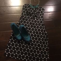 """Polka Dot Dress Strapless A-Line dress.  Side zip.  28"""" flat.  Worn once.  Semi-formal.  Shoes & necklace available. The Limited Dresses Strapless"""