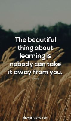 Learning doesn't just come from schools.