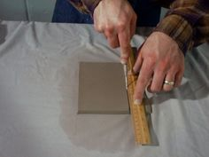 How to make a slab pot Clay Box, Coil Pots, Projects To Try, Boxes, Ceramics, Inspiration, Ideas, Design, Art