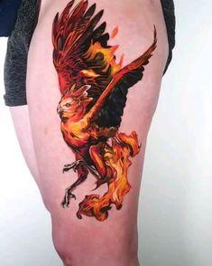 Eagle Tattoos, Leg Tattoos, Body Art Tattoos, Tattoos For Guys, Cool Tattoos, Phoenix Tattoo For Men, Phoenix Tattoo Design, Thor Tattoo, Australian Tattoo