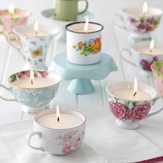 Teacup Candles home candles decorate teacup diy crafts