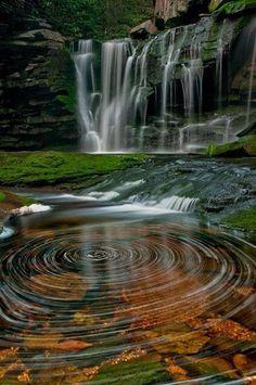 "Gorgeous! ""Fascinating Pictures: Water spirals of Elakala waterfalls. Blackwater falls. West Virgin"