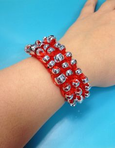 A red beaded bracelet from Bandaloom!