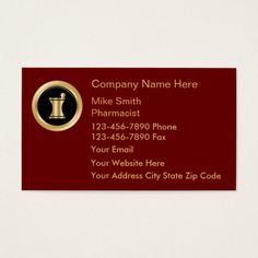 upscale pharmacy business cards - Pharmacy Business Cards