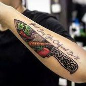 Resultado de imagen de chef knife tattoo