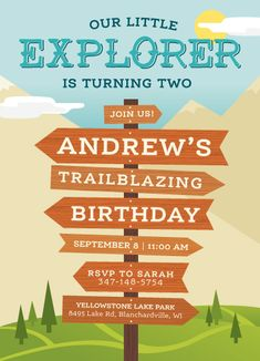 birthday party invitations - Our little explorer by Christian Bennin