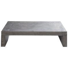 Mesa baja de fibra de cristal efecto hormigón gris claro An. 130 cm Graphite